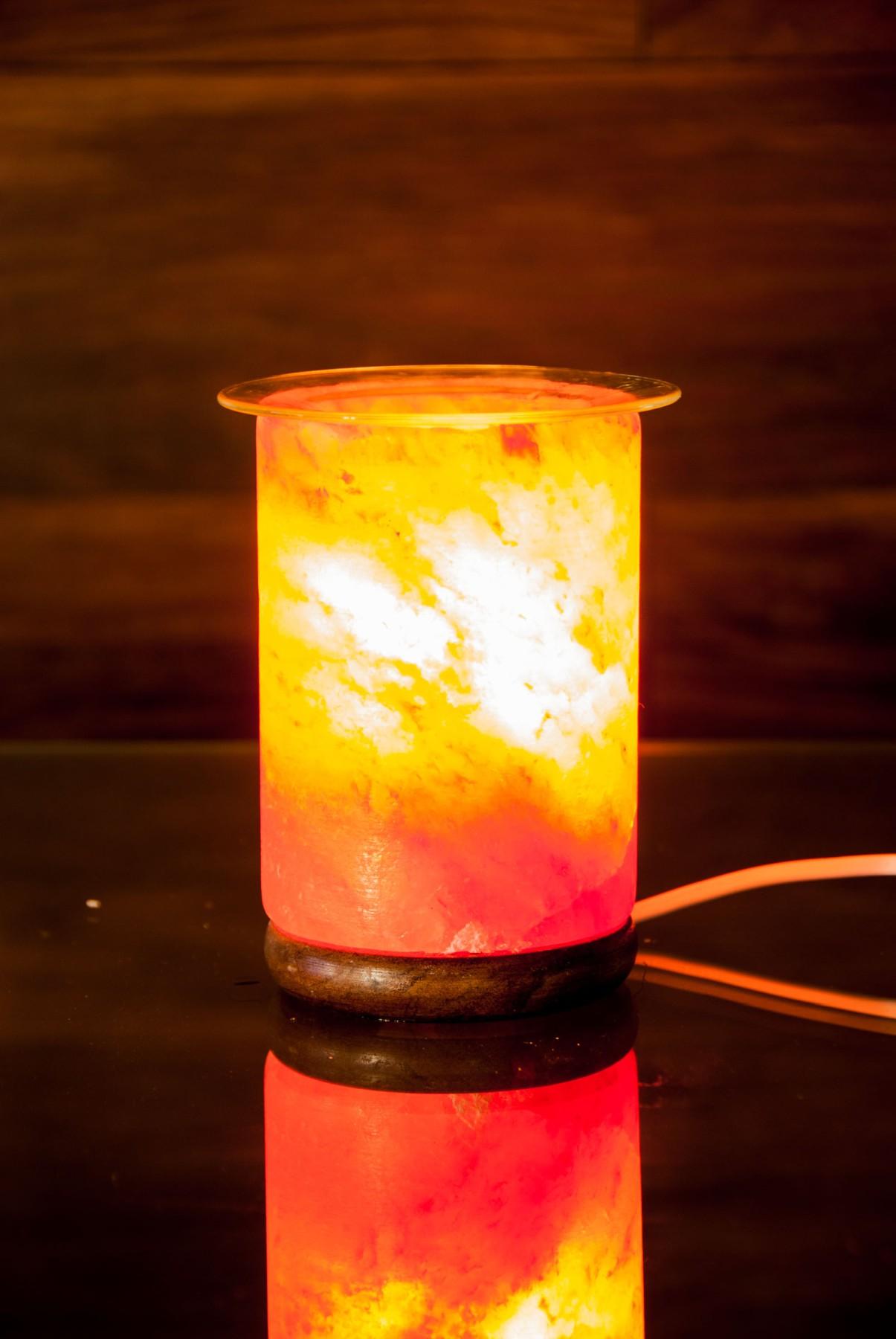 Aromalampen aus Kristallsalzstein