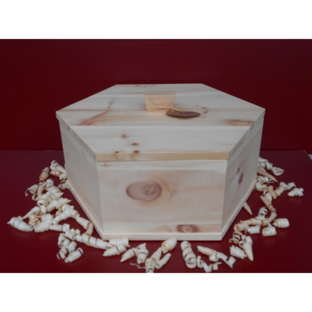 Zirbenholz Brotdose (sechseckig)