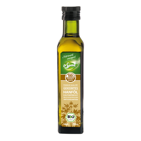 Bio Kaltgepresstes Hanf-Keimöl, Rohkost, 250ml