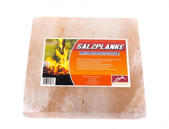 Quadratische Salzplanke zum Grillen
