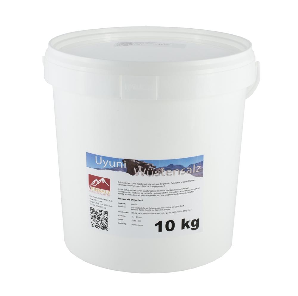 Uyuni Wüstensalz Granulat 10 kg Eimer