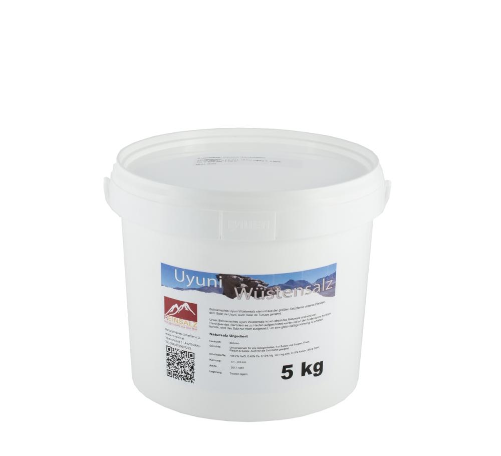 Uyuni Wüstensalz Granulat 5 kg Eimer