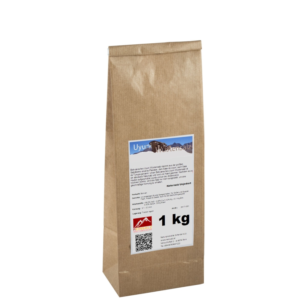 Uyuni Wüstensalz Granulat 1 kg