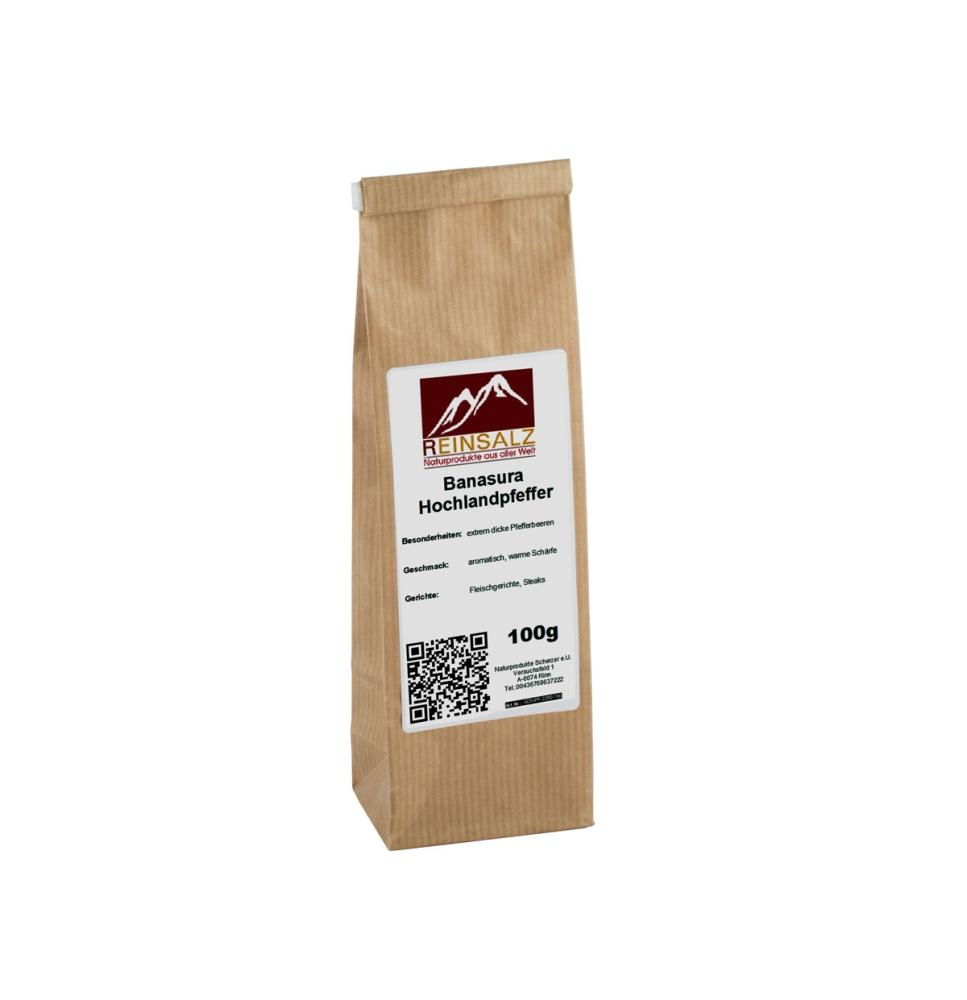 Reinsalz Banasura Hochlandpfeffer 100 g