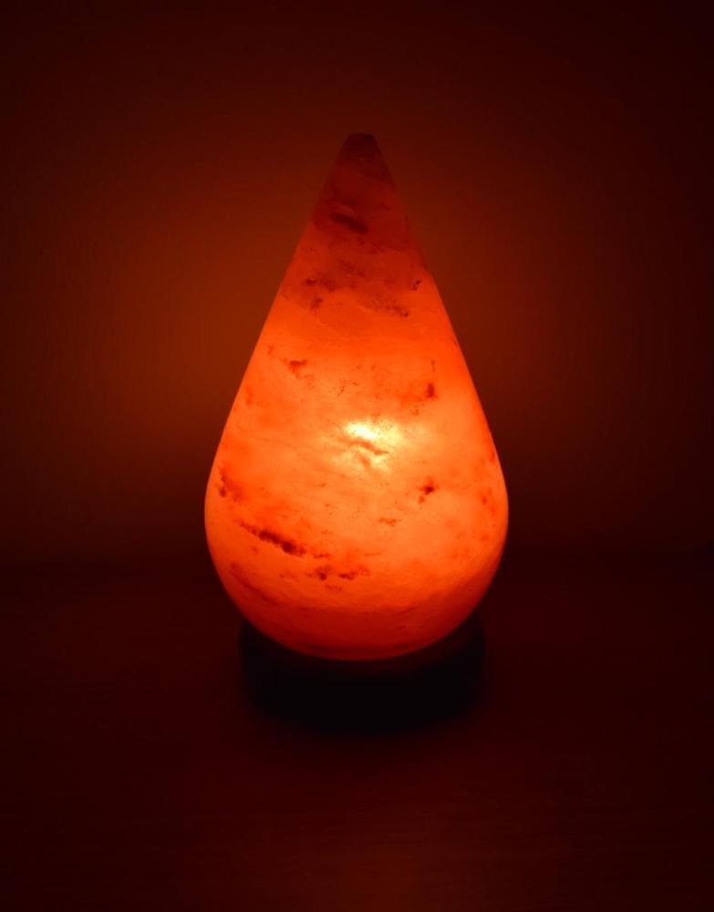 Salz tropfen lampe mit holzsockel - Salzkristall fliesen ...