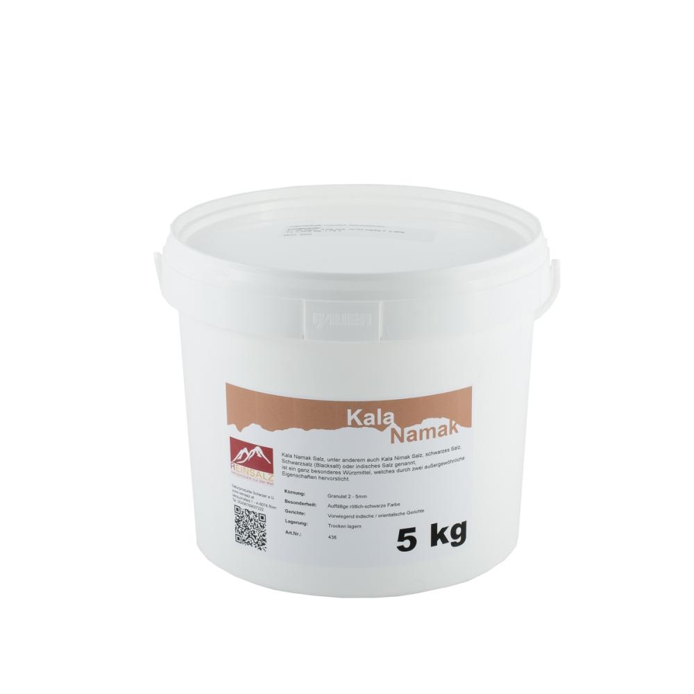 Kala Namak Salz Brocken 5 kg Eimer