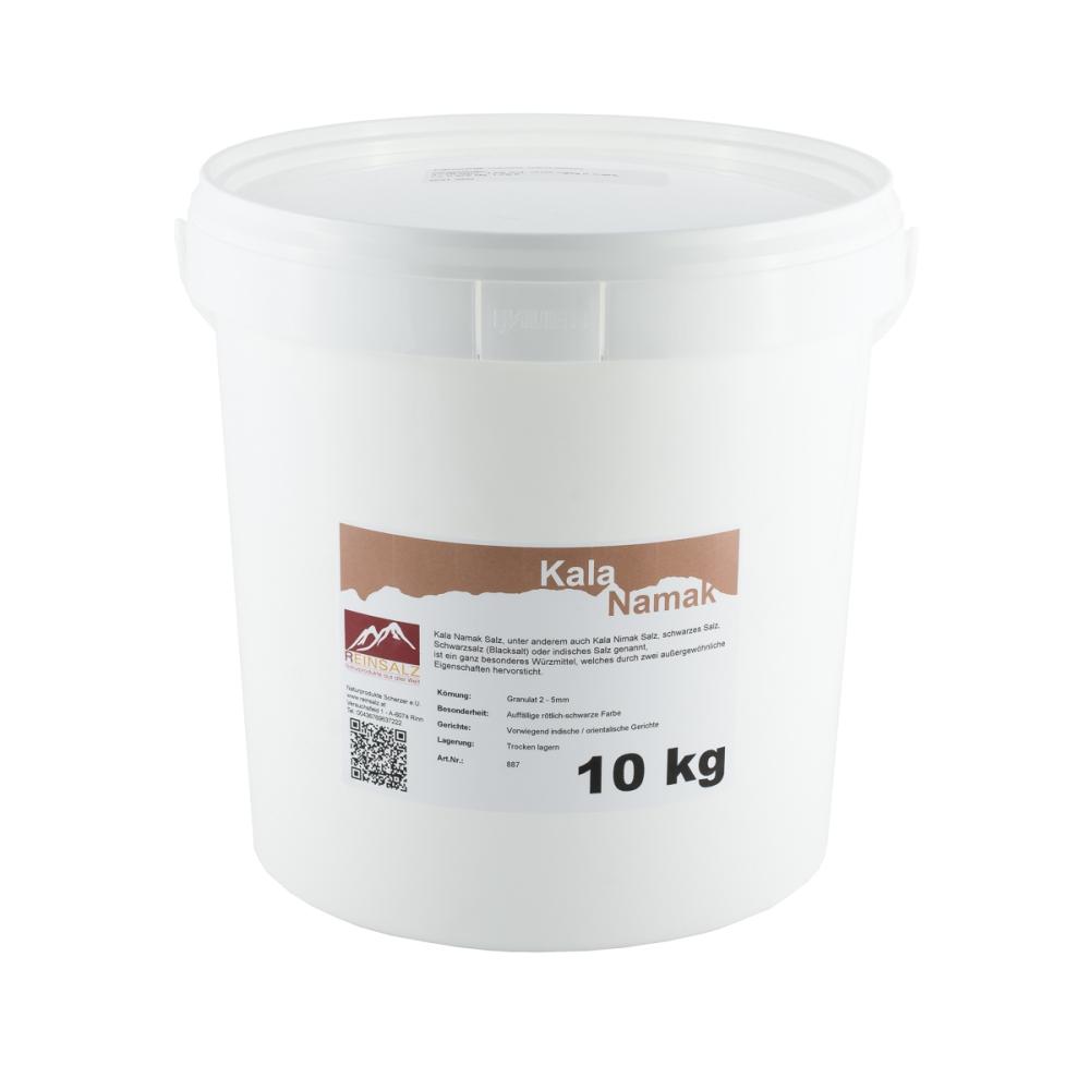 Kala Namak Salz Brocken 10 kg Eimer