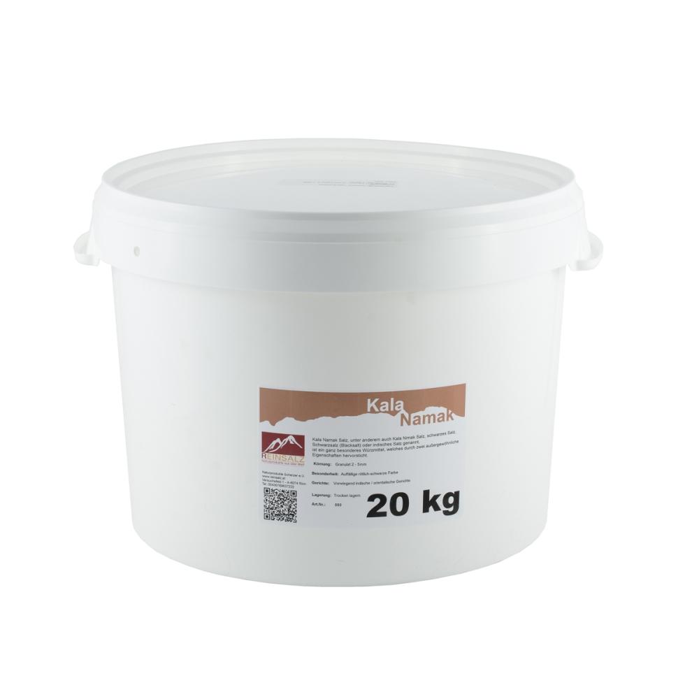 Kala Namak Salz Brocken 20 kg Eimer