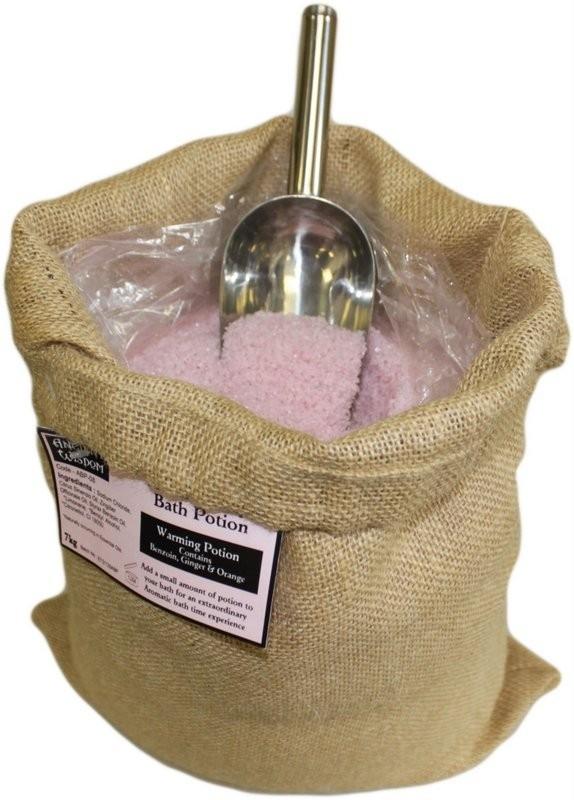 "Aromatherapiebadesalz ""Wärmende Mischung"" 7 kg Jutesack"