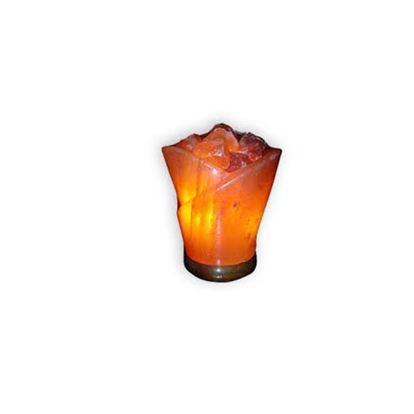 Salzlampe in Rosenform