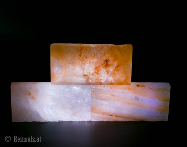 Kristallsalzfliesen RECHTECKIG, GLATT 20x10x2,5 cm