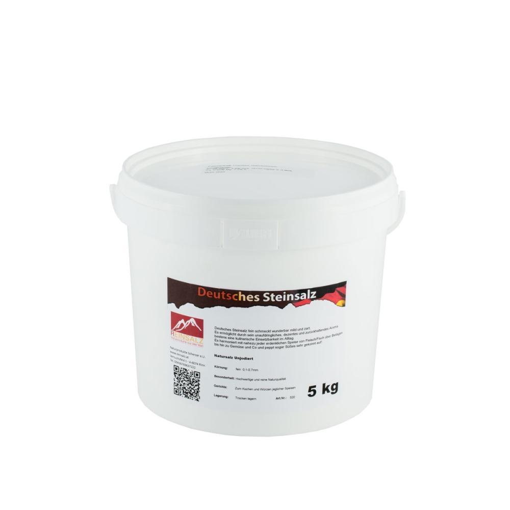 Deutsches Steinsalz Granulat 5 kg Eimer