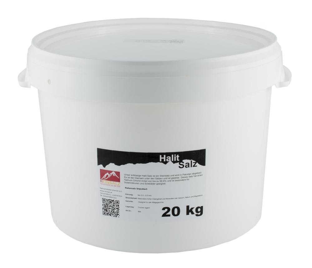 Halit Salz fein 20 kg Vorratseimer