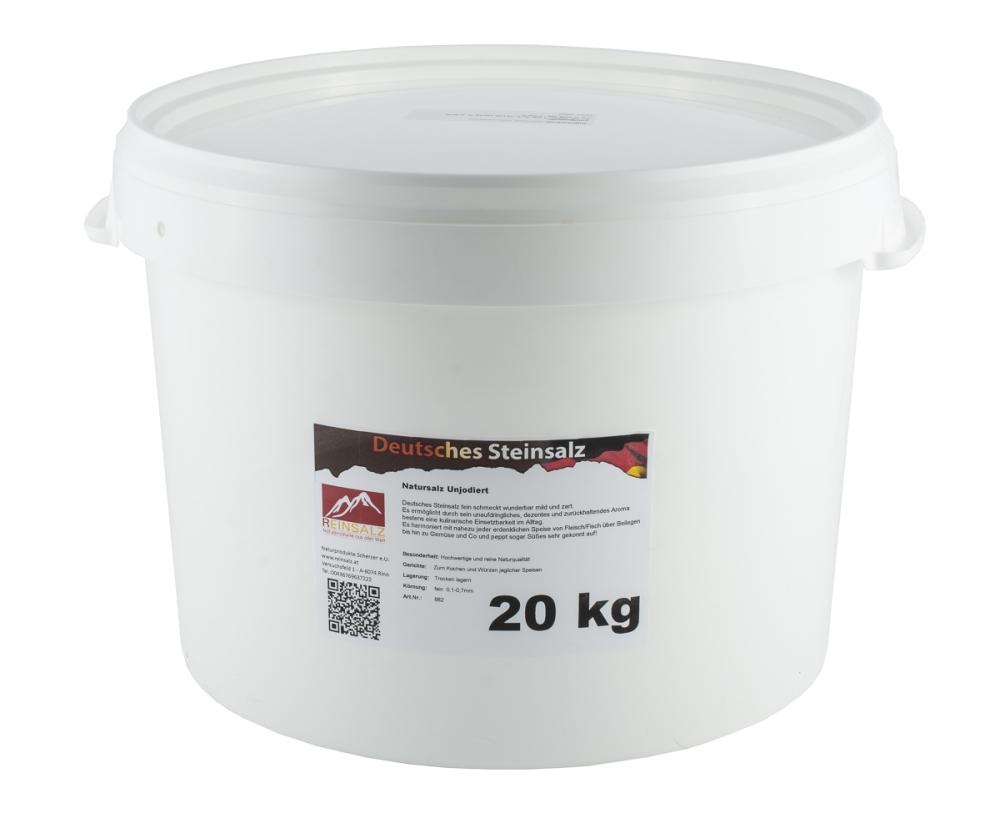 Deutsches Steinsalz Granulat 20 kg Vorteilseimer
