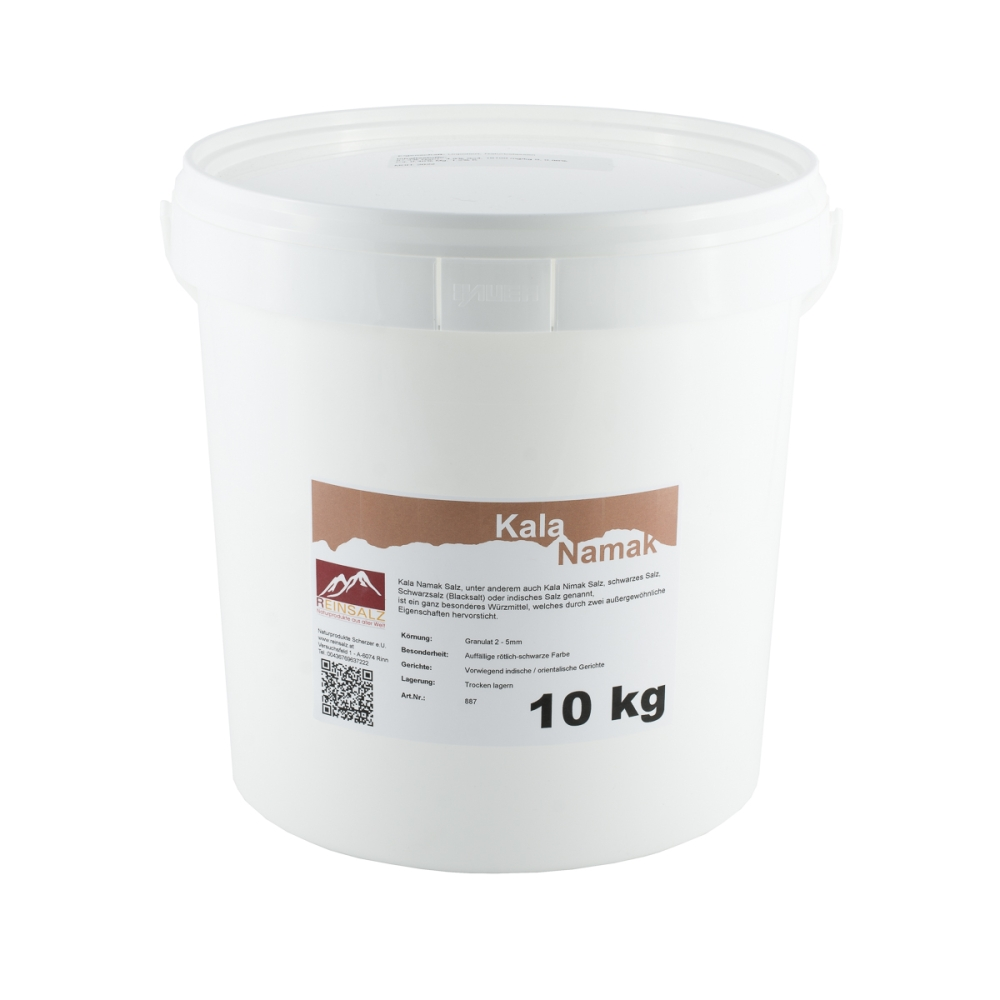 Kala Namak Salz fein 10  kg Eimer