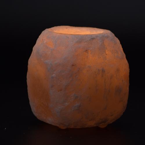 Salzkristall-Teelicht natürlich groß