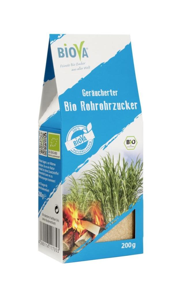 Geräucherter Bio Rohrohzucker 200 g