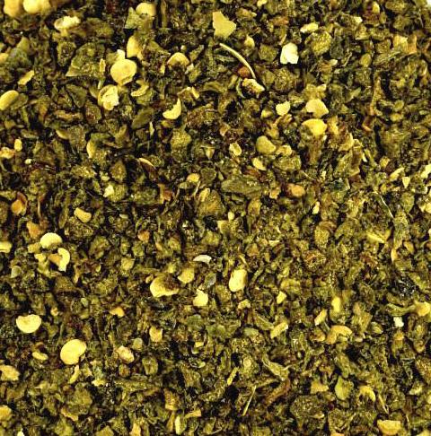 Jalapeno Chili grün geschrotet 100 g