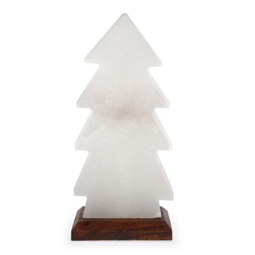 """Salzlampe Halit """"Tannenbaum"""" mit Holzsockel 30 cm"""