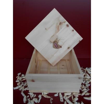 Zirbenholz Brotdose (quadratisch)
