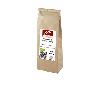 BIO-Pfeffer weiß aus Sri Lanka 250 g