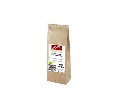 Bio Pfeffer weiß aus Sri Lanka 100 g