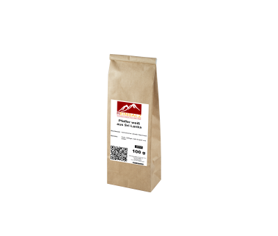 Pfeffer weiß aus Sri Lanka 100 g