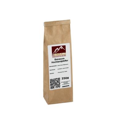 Reinsalz Banasura Hochlandpfeffer 250 g