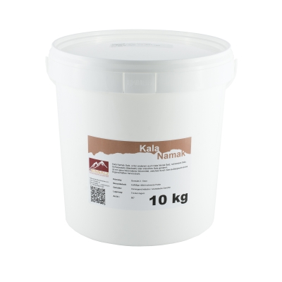 Kala Namak Salz Brocken 2 – 5 cm 10 kg Eimer