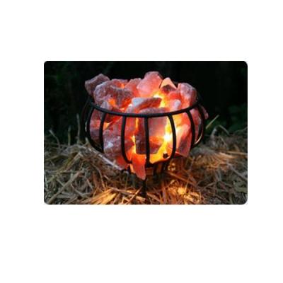 Salzlampe Feuerschalenkorb aus Metall