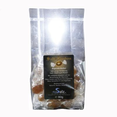 solehaltigen SaltzBonbons Alpenkräuter Tüte 80 g