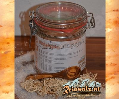 Sole Trinkkur - Himalaya Salzkristalle im Glas 1L