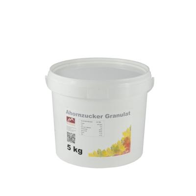Ahornzucker Granulat aus Kanada 5kg Eimer