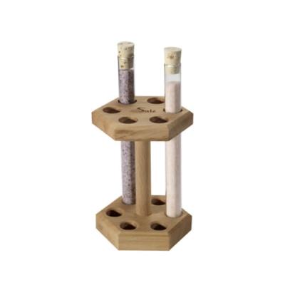 Holzständer für 6 Reagenzgläser