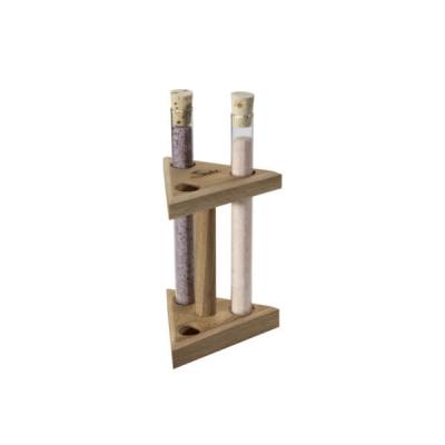 Holzständer für 3 Reagenzgläser