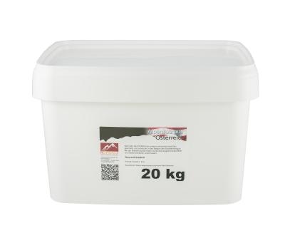 Österreichisches Alpensalz fein 20 kg Vorratseimer