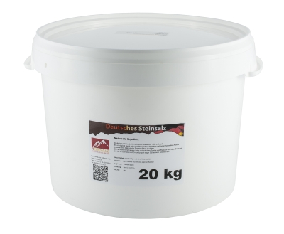 Deutsches Steinsalz fein 20 kg Vorratseimer