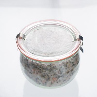 Natürliches Badesalz mit Lavendelblüten im 400g Glas